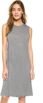 T by Alexander Wang Classic Overlap Dress with Pocket $150 thestylecure.com