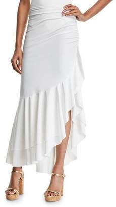 Chiara Boni Odeta Asymmetric Flounce Coverup Skirt