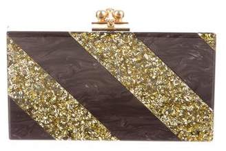 Edie Parker Striped Jean Clutch