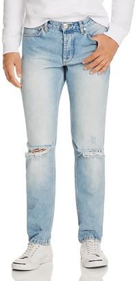 Soulland Erik Destroyed Slim Fit Jeans in Vintage $180 thestylecure.com