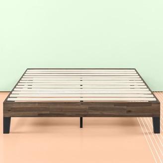 """Zinus 12"""" Acacia Wood Platform Bed, No Boxspring Needed, Wood slat support, Multiple Sizes"""
