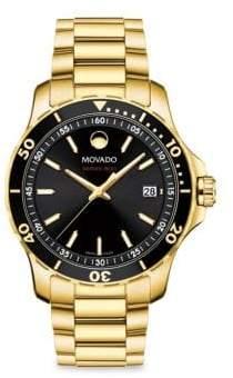 Movado Series 800 Goldtone Stainless Steel Bracelet Watch - Black