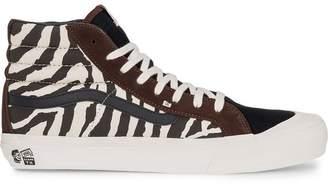 Vans hi-top animal print sneakers