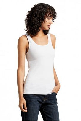 Michael Stars White Chelsea Scoop Neck Tank - Small