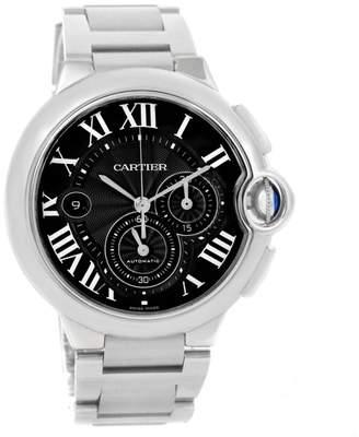 Cartier Ballon Bleu W6920077 Stainless Steel & Black Dial 44mm Mens Watch