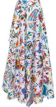 Milly Peyton Printed Cotton-Blend Poplin Maxi Skirt