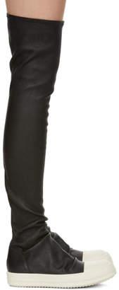 Rick Owens (リック オウエンス) - Rick Owens ブラック ストッキング スニーカー ブーツ