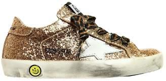 Golden Goose Super Star Glittered Sneakers