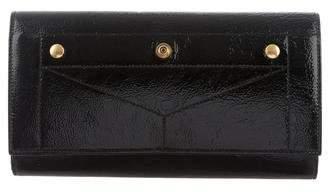 Saint Laurent Patent Leather Flap Wallet