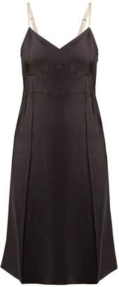 Helmut Lang V-neck satin slip dress