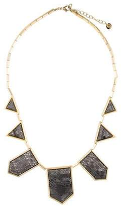 House of Harlow 1960 Two-Tone Engraved Station Collar Necklace Gold House of Harlow 1960 Two-Tone Engraved Station Collar Necklace