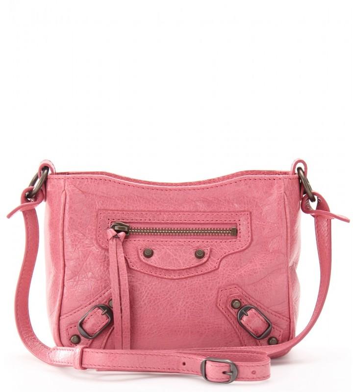Balenciaga CLASSIC DATE LEATHER SHOULDER BAG