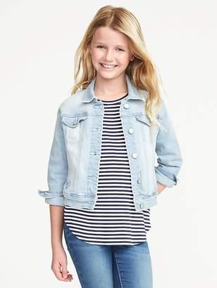 Old Navy Light-Wash Denim Jacket for Girls