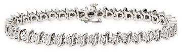 1/2 Carat Diamond Sterling Silver Bracelet