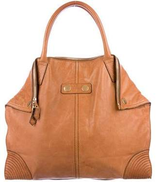 Alexander McQueen Leather De Manta Tote
