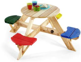 Plum Children's Garden Picnic Table with Coloured Seats.
