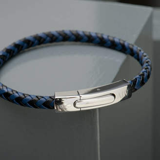 EVY Designs Mens Personalised Infinity Leather Bracelet