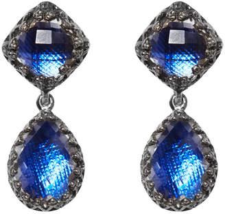 Larkspur & Hawk Small Jane Quartz Drop Earrings, Cobalt