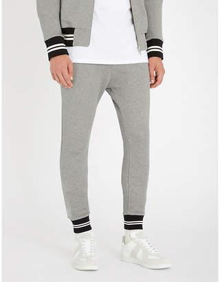 The Kooples Striped cuffs slim-fit cotton-blend jogging bottoms