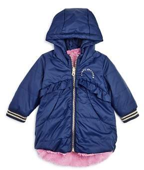 Little Marc Jacobs Girls' Reversible Faux-Fur Puffer Coat - Baby