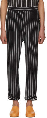 Haider Ackermann Black and White Silk Anatase Classic Trousers
