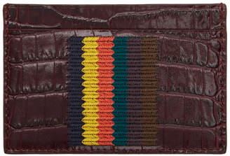 Paul Smith Burgundy Bright Stripe Card Holder