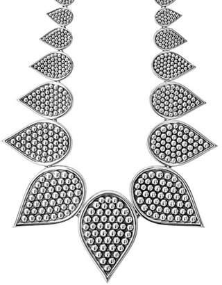 """Lagos Graduated Caviar Teardrop Collar Necklace, 18"""""""