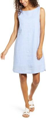 BeachLunchLounge Alina Stripe Linen & Cotton Shift Dress