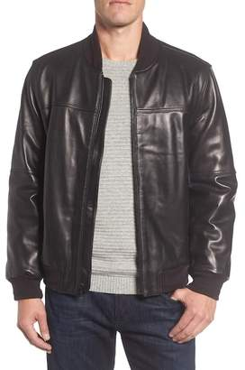 Andrew Marc Summit Leather Bomber Jacket