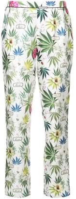 Fleur Du Mal floral printed pyjama pants