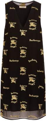 Burberry Embroidered Tulle Shift Dress