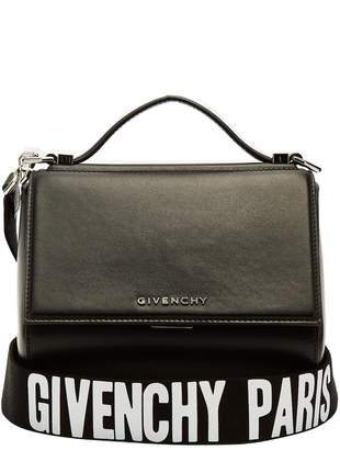 Givenchy Pandora box logo-strap cross-body leather bag