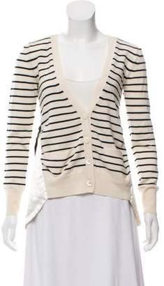 Sacai Wool Striped Cardigan