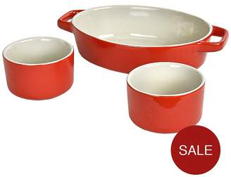 Swan 3-Piece Oven To Tableware 3 Piece Set - Red