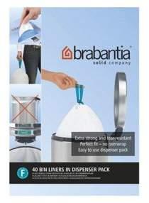 Brabantia Perfectfit Bags Size F 20 Litre Slim 40 Bag Dispenser Pack
