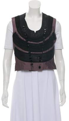 Jean Paul Gaultier Embroidered Cropped Vest