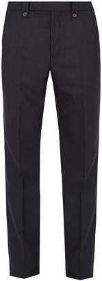 Lanvin Slim-fit pinstriped wool trousers