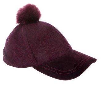 Paul Smith Faux Fur Pom-Pom Hat $75 thestylecure.com