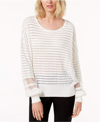 French Connection Mesh Stripe Sweater