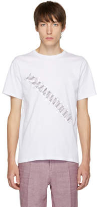 Saturdays NYC White Dotted Slash T-Shirt