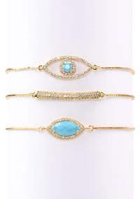 Eye Candy La Gold-Plated Cubic Zirconia Bracelet Set