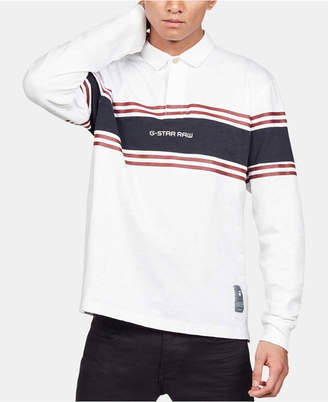 G Star Men Regular-Fit Colorblocked Stripe Rugby Polo