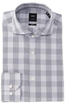 BOSS Christo Plaid Slim Fit Dress Shirt