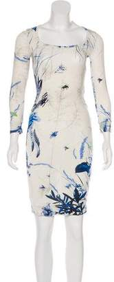 Just Cavalli Print Jersey Dress w/ Tags