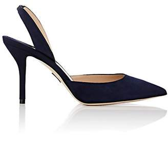 Paul Andrew Women's Passion Suede Slingback Pumps - Navy