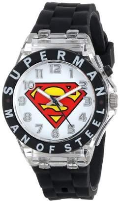 Superman Kids' SUP9048 Analog Display Analog Quartz Black Watch