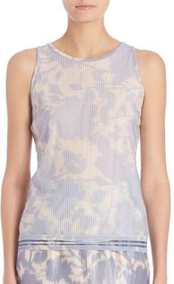 Escada Women's Pleated Floral Shell