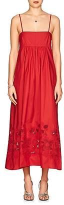 Barneys New York Women's Cotton Poplin Maxi Dress - Red