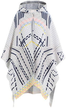 Peter Pilotto Wool Blend Cape with Angora