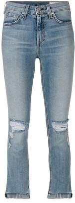 Rag & Bone Jean distressed cropped jeans
